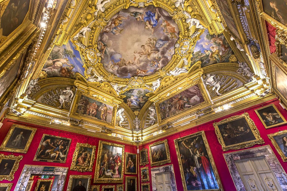 Sala del Palazzo Pitti, Florencia, Toscana, Italia