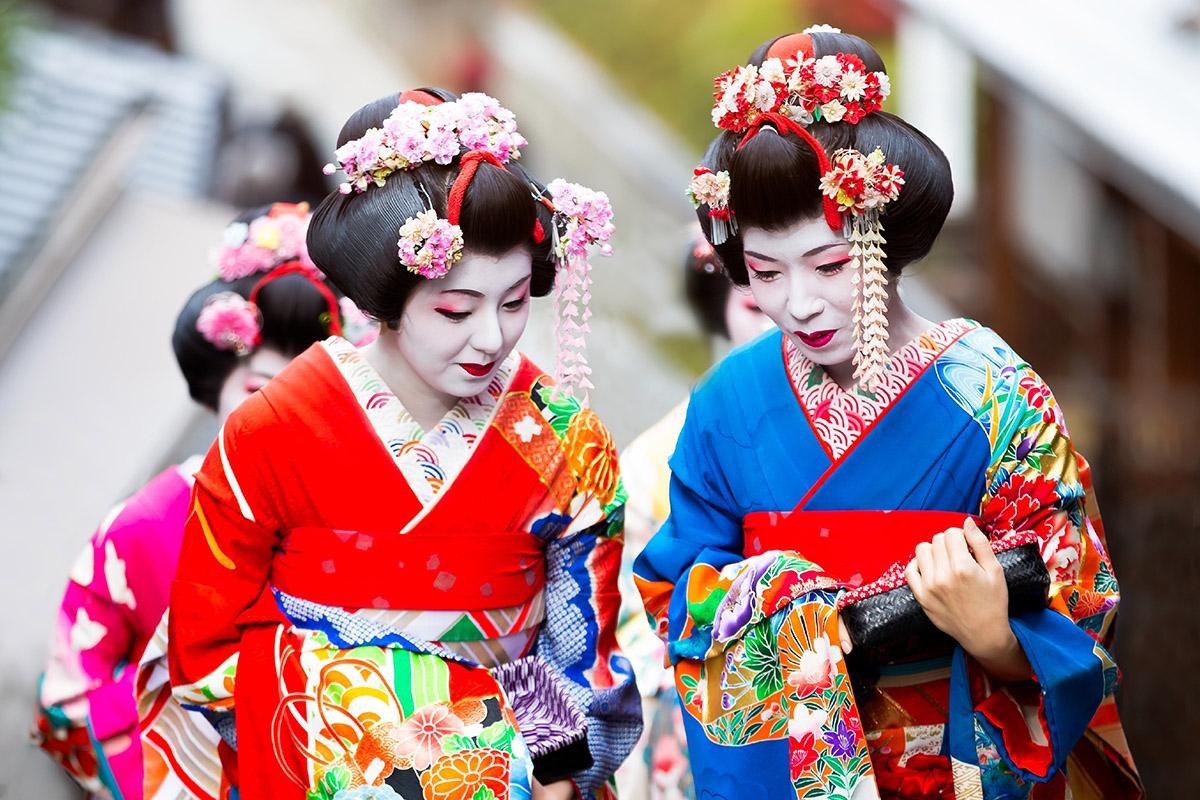 'Geishas' en Kioto, Japón