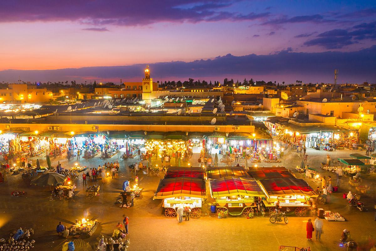 Plaza Yamaa el Fna, Marrakech, Marruecos