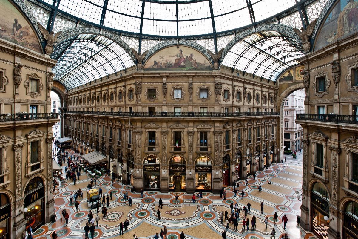 Galeria Vittorio Emanuele II, Milán, Italia