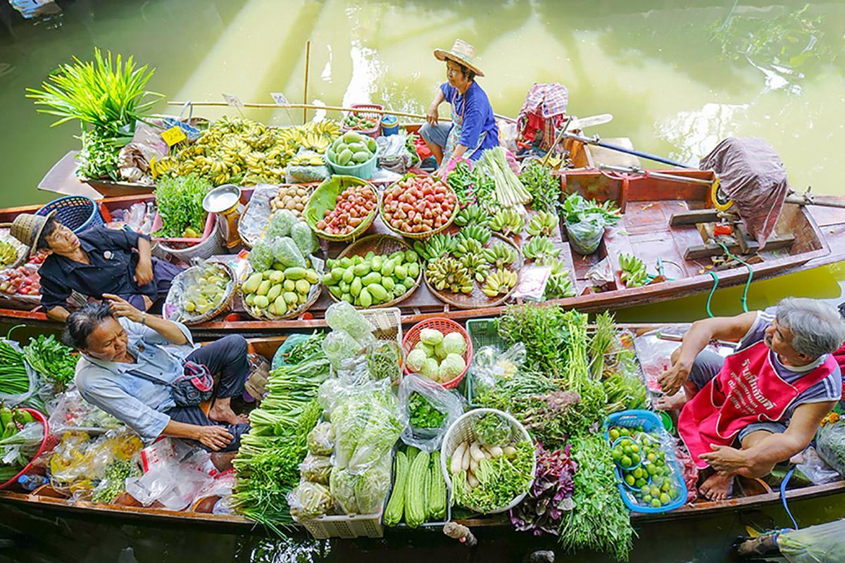 Mercado, Bangkok, Tailandia