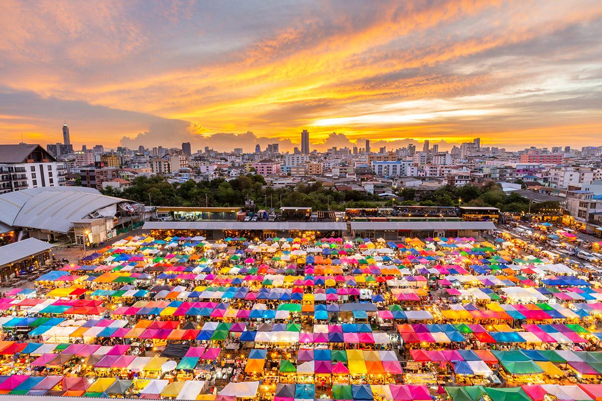 Mercado de fin de semana de Chatuchak, Bangkok, Tailandia