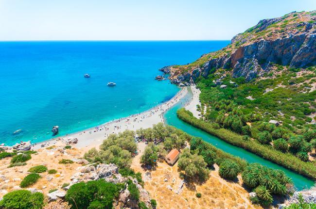 Playa Preveli, Creta, Grecia