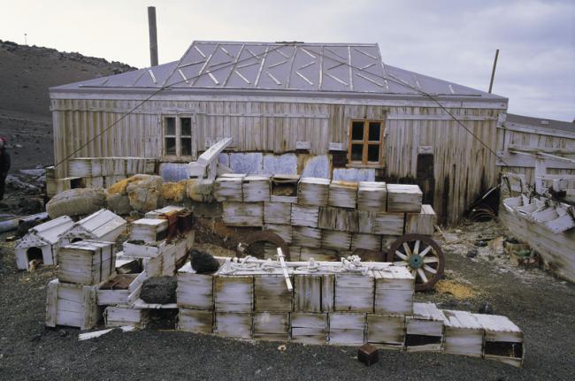 Cabaña de Shackleton, isla de Ross, Antártida