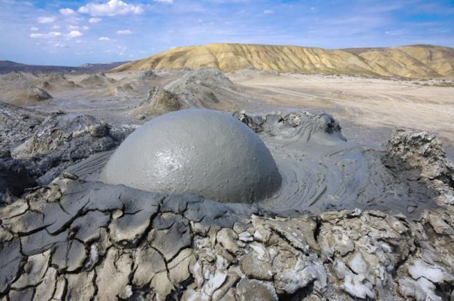 Volcanes de lodo, Gobustán, Azerbaiyán