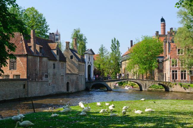 'Begijnhof', Brujas, Bélgica