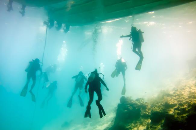 Submarinismo en el Gran Agujero Azul, Belice