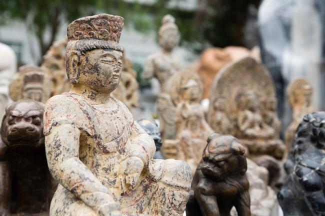 Mercado de antigüedades de Pānjiāyuán, Beijing, China