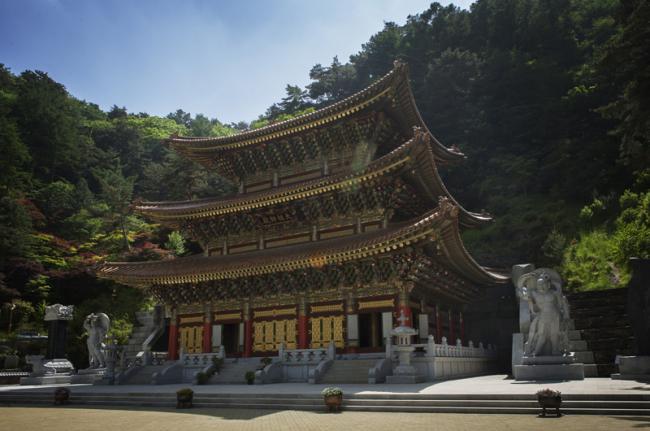 Templo en Guinsa, Corea del Sur