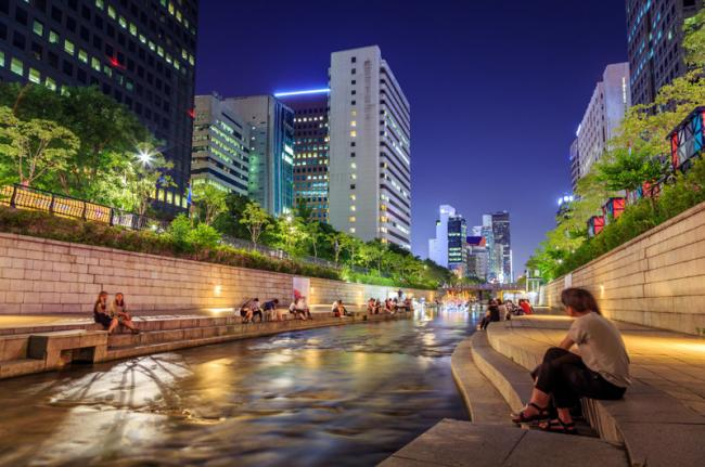 Cheonggyecheon, Seúl, Corea del Sur