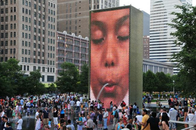'Crown Fountain', Millennium Park, Chicago, Estados Unidos