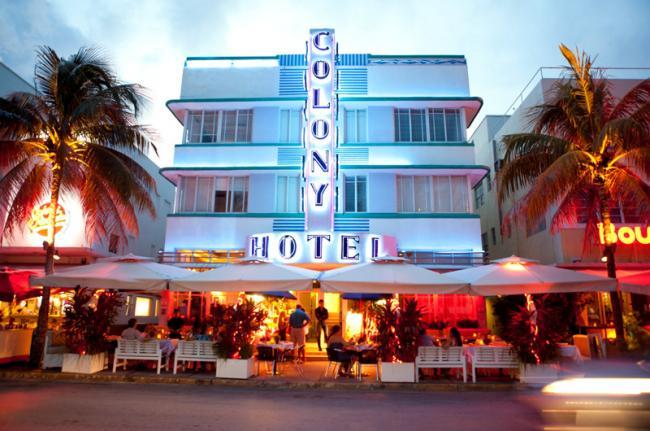 Ocean Drive, Miami, Florida, Costa este de Estados Unidos