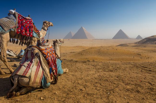 Pirámides de Gizeh, El Cairo, Egipto