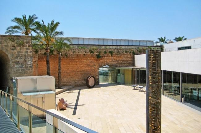 Patio de Es Baluard, museo de arte de Palma, Mallorca, Baleares, España