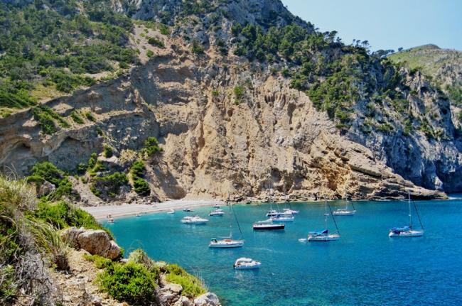 Playa de Coll Baix, Mallorca, Baleares, España