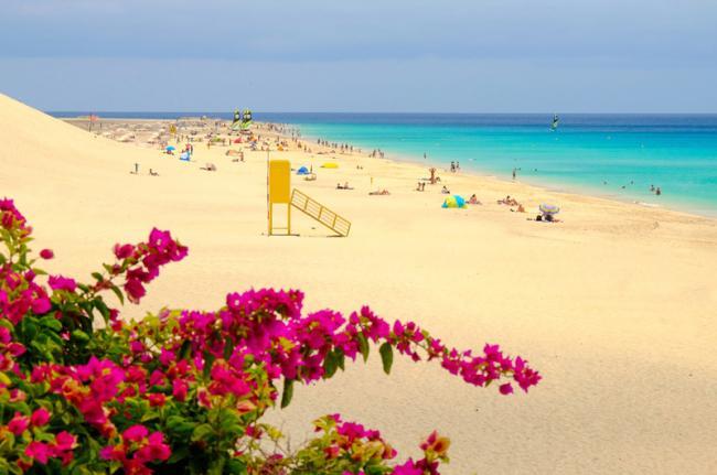 Playa del Matorral en Morro Jable, Fuerteventura, Canarias, España