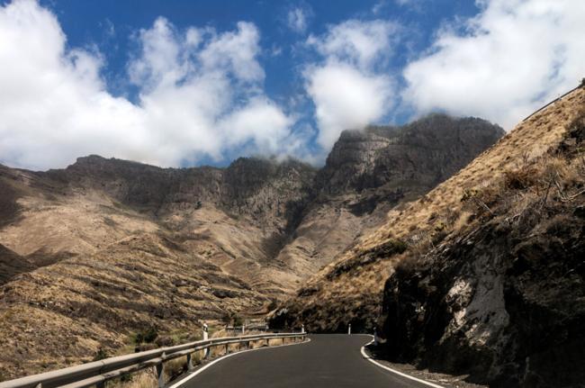 Escarpado interior de Gran Canaria, Canarias, España