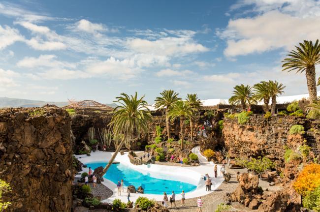 Jameos del Agua, arquitectura de César Manrique, Lanzarote, Canarias, España