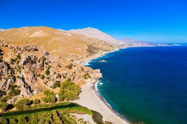 Playa de Preveli, Creta, Grecia