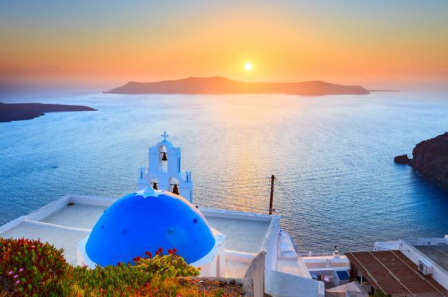 Puestas de sol en Santorini, Grecia