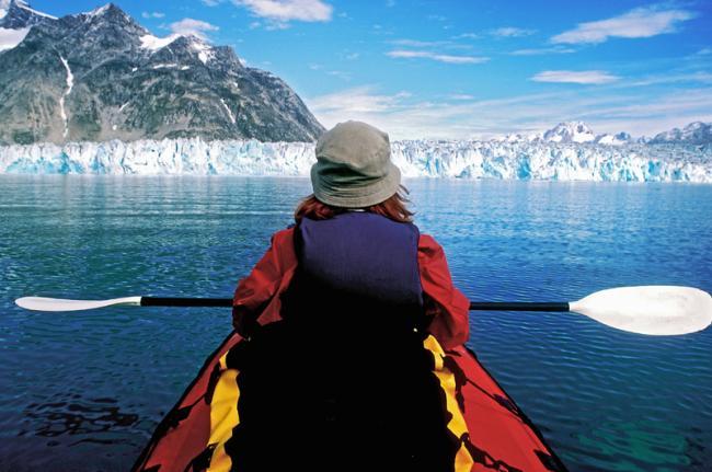 Kayak en los fiordos, Groenlandia