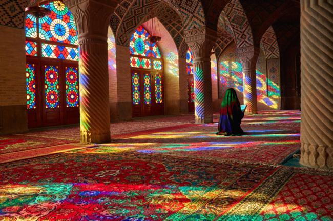 Mezquita Nasir Al-Muk, Shiraz, Irán