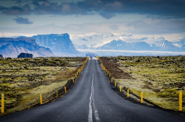 Carretera de circunvalación, Parque Nacional Skaftafell, Islandia