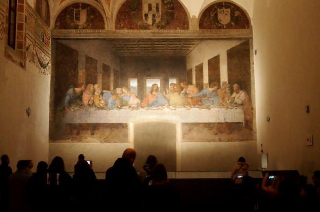'La última cena', de Leonardo da Vinci, Milán, Italia