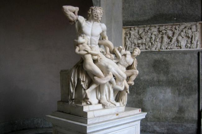 Estatua de Laocoonte, Museos Vaticanos, Roma, Italia