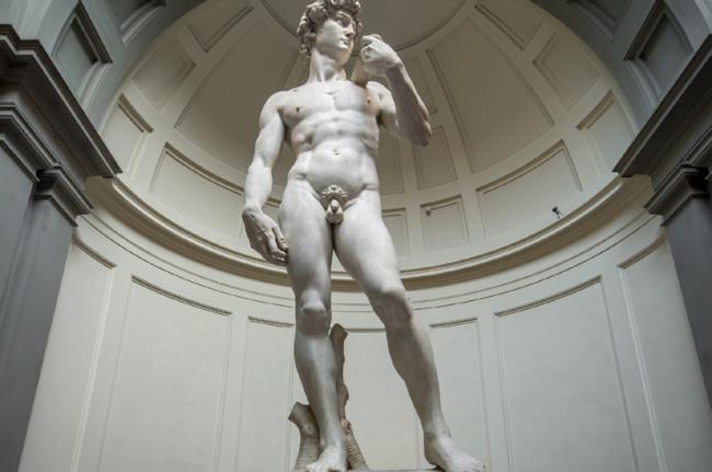 'David', de Miguel Ángel, Galleria dell'Accademia, Florencia, Toscana, Italia