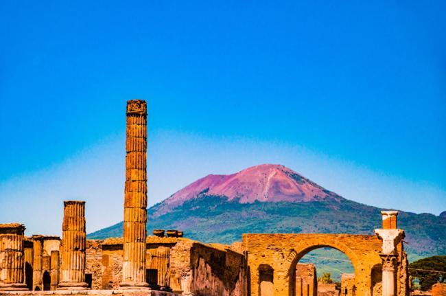 Las ruinas de Pompeya, Italia