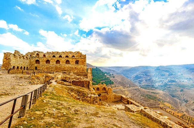 Castillo de los cruzados, Karak, Jordania