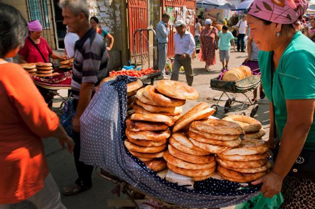 Bazar de Osh, Kirguistán