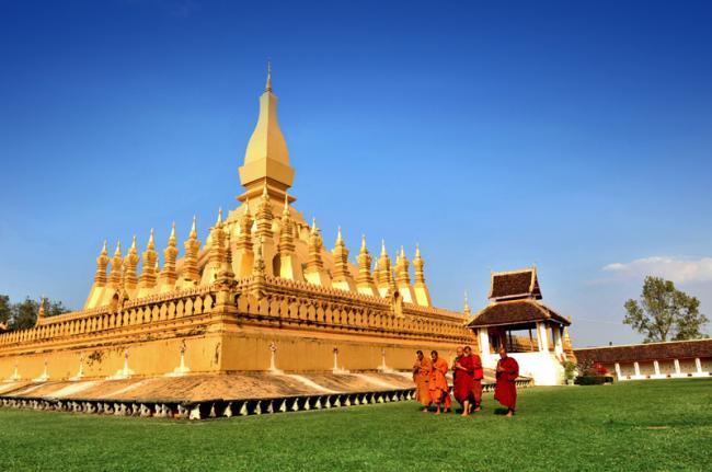 Wat Phra That Luang, Vientián, Laos
