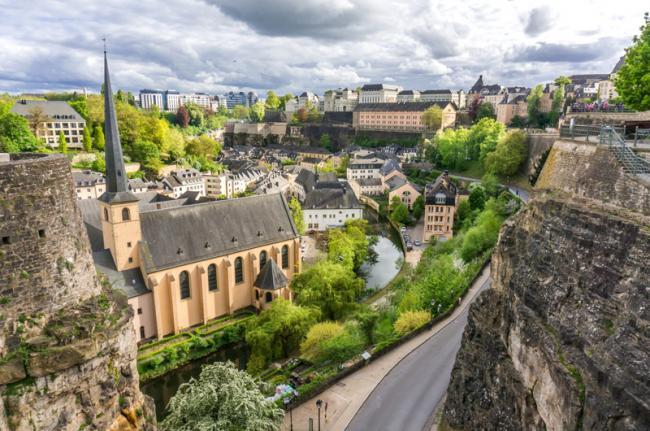Chemin de la Corniche, ciudad de Luxemburgo, Luxemburgo