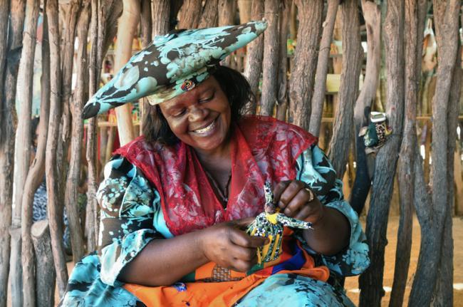 Mujer herero, Namibia