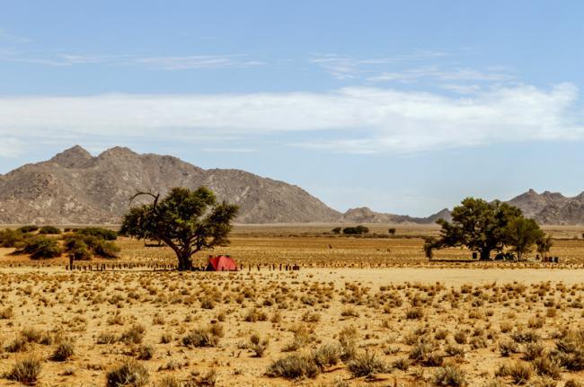 Acampar en un safari, Namibia