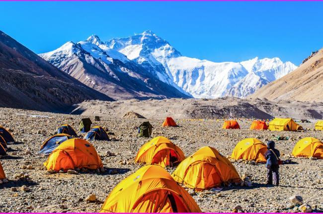 El campo base del Everest, Nepal