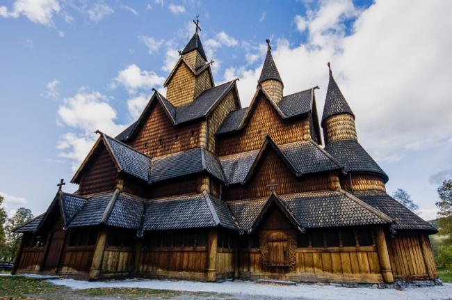 Iglesia de madera de Heddal, Noruega