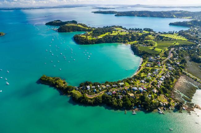 Isla Waiheke y golfo de Hauraki, Nueva Zelanda