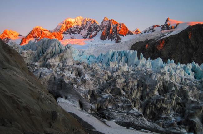 Glaciar Fox, costa oeste, Nueva Zelanda