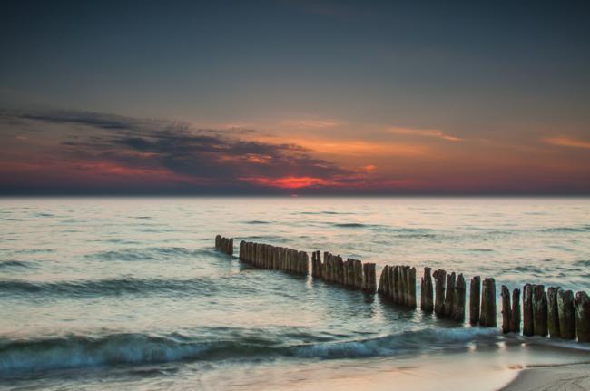 Playa de Chalupy, mar Báltico, Polonia