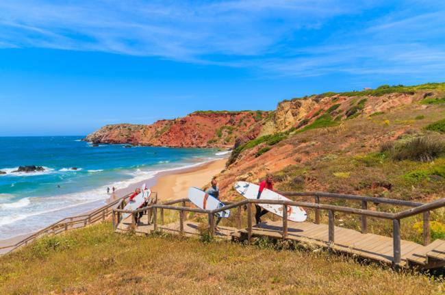 'Surf' en Praia do Amado, costa oeste, Algarve, Portugal