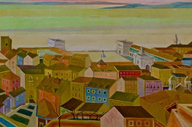 'Lisboa e o Tejo', de Carlos Botelho, Museu Calouste Gulbenkian, Lisboa, Portugal