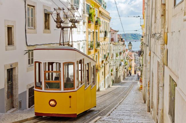 El tranvía 28, Lisboa, Portugal