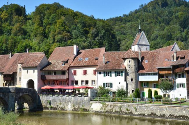 St Ursanne, Jura rural, Suiza