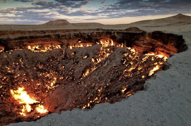 Cráteres de Darvaza, Turkmenistán