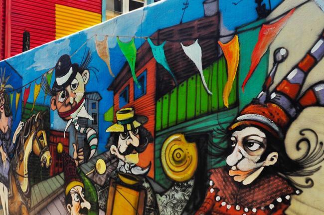Arte callejero en Buenos Aires, Argentina