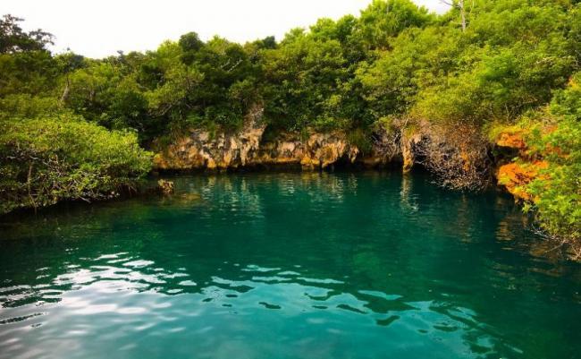 Blue Hole Park, Bermudas.