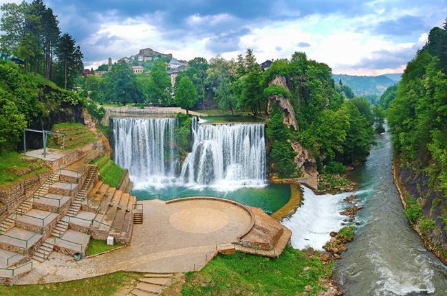 Cascadas de Jajce , Bosnia y Herzegovina